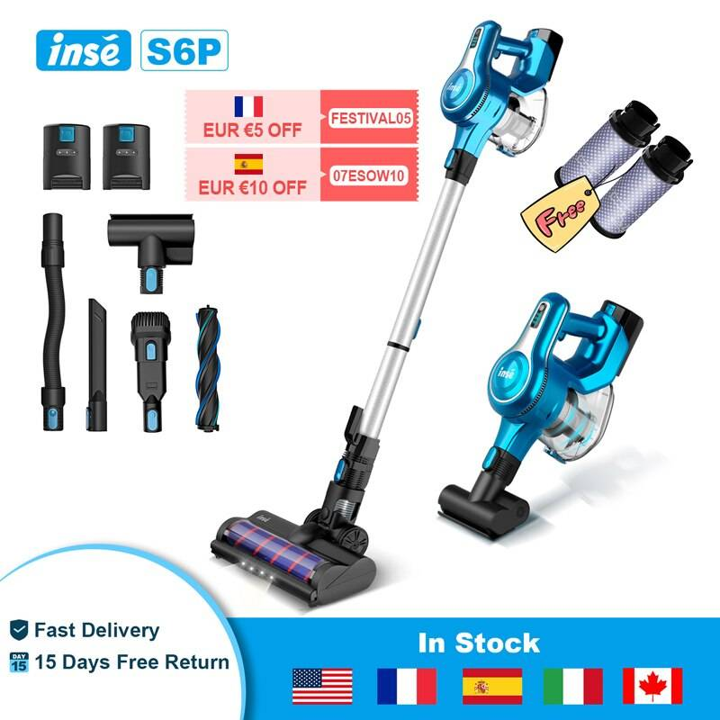 https://hotstarstore.com (FR: 5€ off Use FESTIVAL05) Wireless Vacuum Cleaner INSE S6P Cordless Vacuum 23Kpa Powerful Suction, Up To 80min Run-time Hot Star Store
