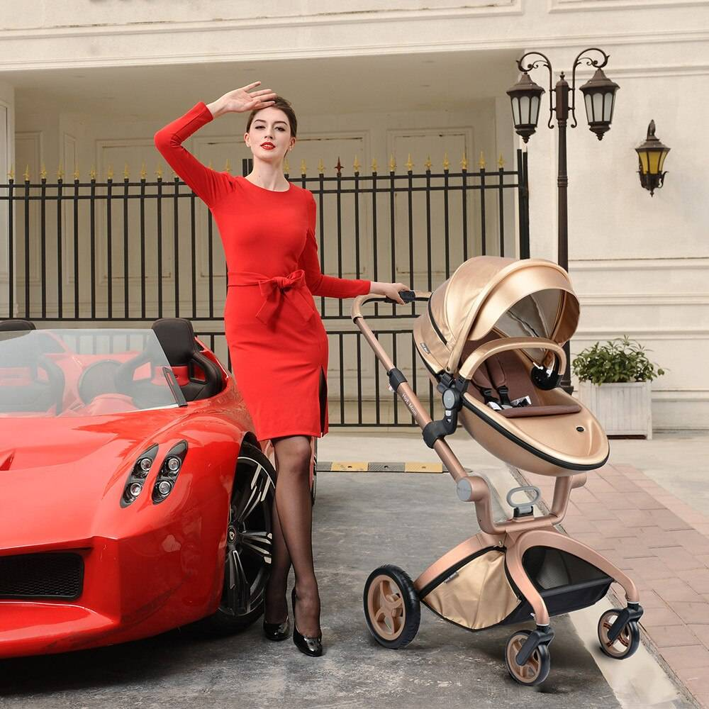 Hot Mom Baby Stroller 3 IN 1, Popular High Landscape Strollers 2021 ,Newborn Stroller With Bassinet Baby Carriage Travel System
