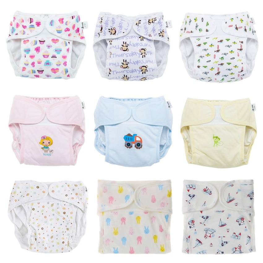 https://hotstarstore.com Baby Reusable Diapers Panties Cloth Diapers for Children Training Panties Adjustable Size Washable Breathable Ecological Diaper Hot Star Store
