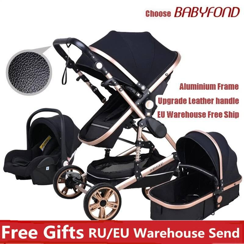 https://hotstarstore.com Babyfond Stroller High Landscape Kid Carriang 3 in 1 Baby Stroller With Car Seat 2 in 1 Newborn Pram CE safety Send Gifts Hot Star Store