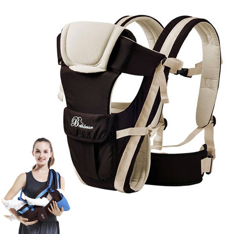 https://hotstarstore.com Beth Bear Baby Carrier Backpack Breathable Front Facing 4 in 1 Infant Comfortable Sling Backpack Pouch Wrap Baby Kangaroo New Hot Star Store