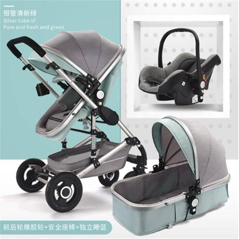 https://hotstarstore.com Good Quality Blue Gray Baby Stroller Folding Carriage High Landscape Gold Red Baby Stroller Newborn Stroller Absorber Stroller Hot Star Store