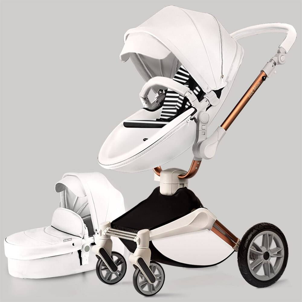 Ships From: China GERMANY United States Belgium Color: F023-white https://hotstarstore.com Hot Mom Baby Stroller 3 in 1 travel system with bassinet and car seat,360° Rotation Function children stroller,Luxury Pram F023 Hot Star Store