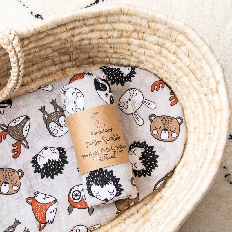 https://hotstarstore.com Kangobaby Fashion Muslin Swaddle Cloth Diaper Wrap Baby Receiving Blanket Squares Babyroom Decor 120x120cm 100% Cotton Hot Star Store